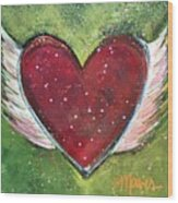 Winged Heart Number 1 Wood Print