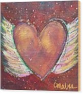 Winged Heart Number 2 Wood Print