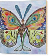 Winged Metamorphosis Wood Print by Lucy Arnold