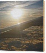 Winged Sun Wood Print