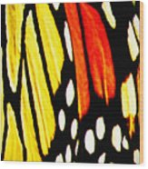 Wings Of A Monarch Butterfly Abstract Wood Print