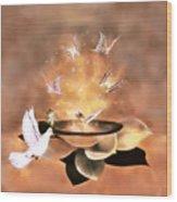 Wings Of Magic Wood Print