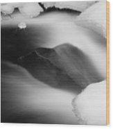 River Angle Wood Print