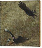 Wings Spread Wide Wood Print