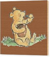 Winnie The Pooh T-shirt Wood Print