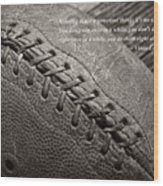 Winning Quote From Vince Lombardi Wood Print