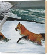 Winslow Homer's, 1893 ' The Fox Hunt ', Revisited 2016 Wood Print