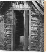 Winslow Log Outhouse Wood Print