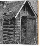 Winslowlogouthouse-11x17 Wood Print