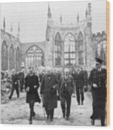 Winston Churchill 1874-1965, Walks Wood Print