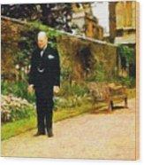 Winston Churchill, 1943 Wood Print