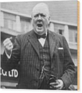 Winston Churchill Campaigning - 1945 Wood Print