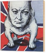Winston Churchill Holding The Line Wood Print