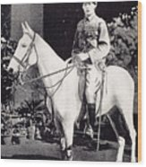 Winston Churchill On Horseback In Bangalore, India In 1897 Wood Print