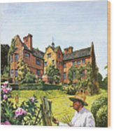 Winston Churchill Painting At Chartwell Wood Print