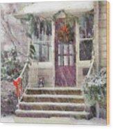 Winter - Christmas - Silent Day  Wood Print
