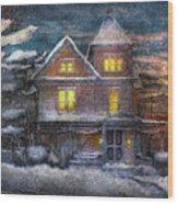 Winter - Clinton Nj - A Victorian Christmas  Wood Print