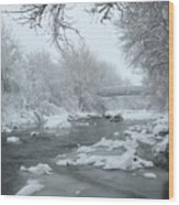 Winter Along Clear Creek Wood Print
