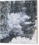 Winter Along The Creek Wood Print