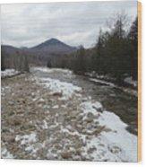 Winter Along The Pemi Wood Print