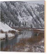 Winter Along The Salt Wood Print