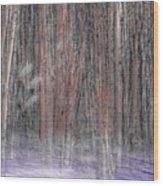 Winter Aspen Wood Print