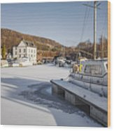 Winter At Bowling Harbour Wood Print