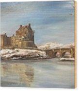 Winter At Eilean Donan Wood Print