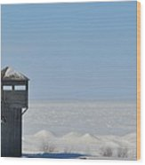 Winter At Fort Michilimackinac Wood Print