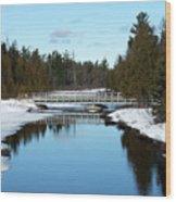 Winter At Hickey Creek Wood Print