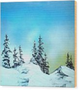 Winter At Lake Tahoe In California Wood Print