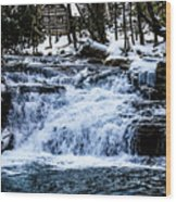 Winter At Mill Creek Falls No. 1 Wood Print
