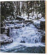 Mill Creek Falls Wv Wood Print