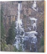Winter At Multnomah Falls Wood Print