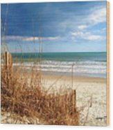 Winter At The Beach Is Still Beautiful Wood Print