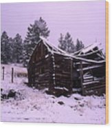 Winter At The Homestead Wood Print