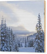Winter Atmosphere Wood Print
