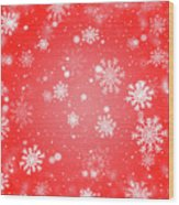 Winter Background With Snowflakes. Wood Print