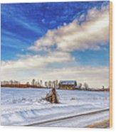 Winter Barn 3 - Paint Wood Print