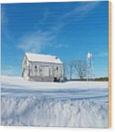 Winter Barn Wood Print by Joyce Kimble Smith