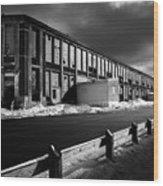 Winter Bates Mill Wood Print