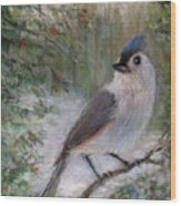 Winter Bird Wood Print