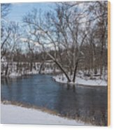 Winter Blue James River Wood Print