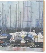 Winter Blues, Sal Boats, Boating Paintings, Boat Paintings, Boat Prints Wood Print