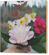 Winter Boquet Wood Print