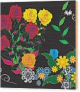 Winter Bouquet Wood Print