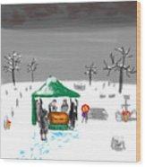 Winter Burial Wood Print