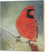 Winter Card Wood Print