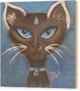 Winter Cat Wood Print