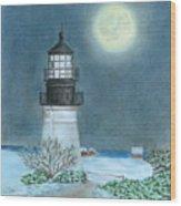 Winter Coast Wood Print